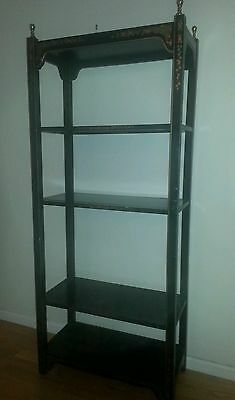 Hollywood regency painted gilted wood bookcase etagere local pick up only