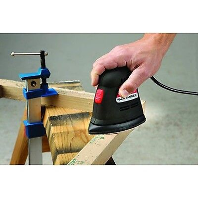 Electric Hand Grip Palm Power Finish Sander with Corner Detail Pad