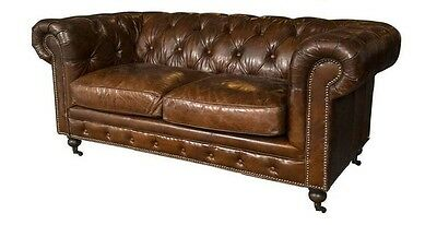 English Georgian Style Chesterfield Sofa Settee 101-6568