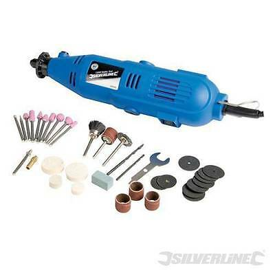 Silverline Rotary Multi Hobby Tool Precision Drill 135W With Accessories