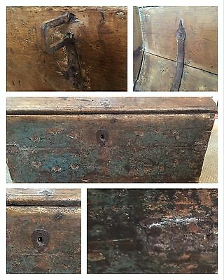 Antique Swedish Marriage Trunk Chest Circa 1780