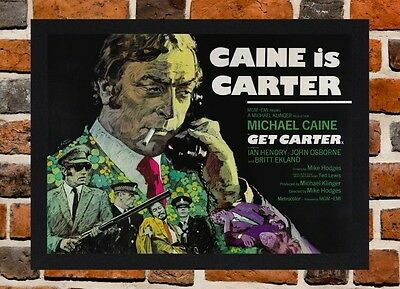 Get Carter Michael Caine Belgian Movie Film wall Home Posters Retro Art #10 A3