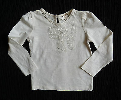 Baby clothes GIRL 18-24m NEXT cream long sleeve bow top SEE SHOP! COMBINE POST!