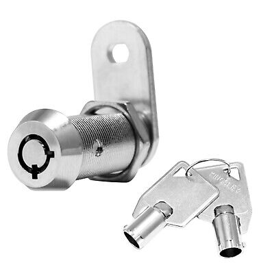 "Tubular Cam Lock 1-1/8"" Cabinet Toolbox Safe Drawer Replacement"