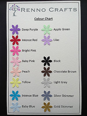 30, 50 or 100 Flower Paper Punches, Embellishments