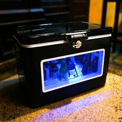 BREKX 54QT LED Party Cooler with Window