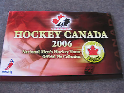 Rare Hockey  Canada 2006 Official Pin Collection Album (Only)