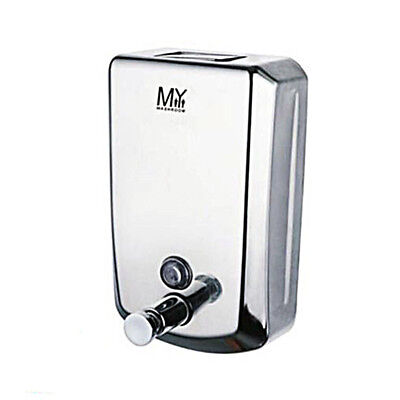 1000ml Soap Dispenser Stainless Steel Wall Mount Euro Design for Bathroom