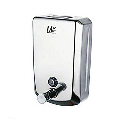 800ml Soap Dispenser Stainless Steel Wall Mount Euro Design for Bathroom