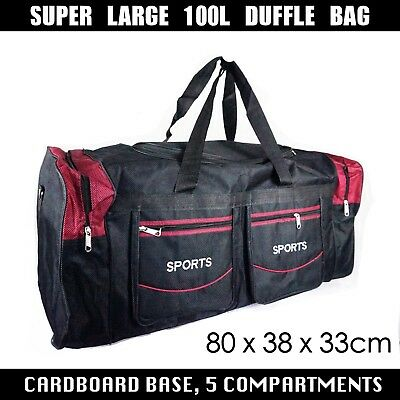 Large Sports Bag Training Gym Travel Camping Duffle Grip Bag 100 Litres