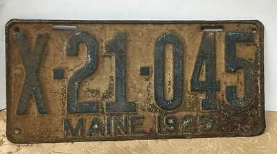 1925 maine license plate