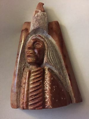 Small Native American Indian Stone Carving Signed K.c. '96
