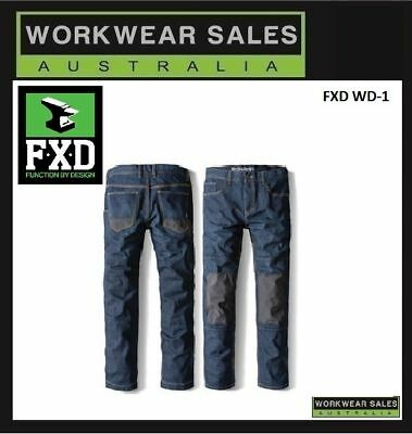 FXD WD-1 WD1 Work Jeans Workwear Mens Pants, Free Shipping.