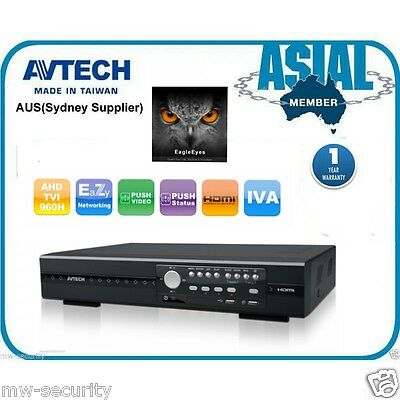 Avtech 4Ch/8Ch/16Ch Hd Cctv Dvr 1080P Tvi+Ahd+960H Tribrid Push Video