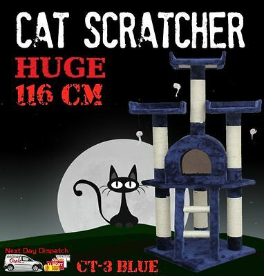 Deluxe Cat Scratcher Scratching Post Scratch Pole Tree House Multi Level CT-3