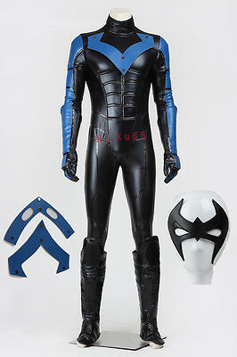e0b10c132fad High Quality Halloween Cosplay Batman Young Justice Nightwing Costume Full  Set
