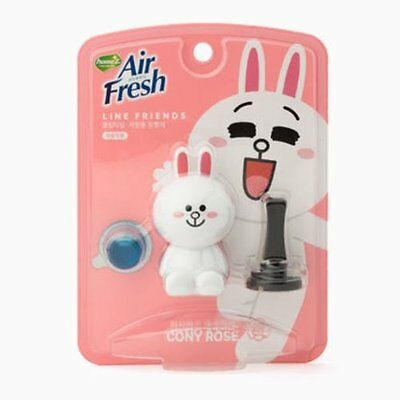 Naver Line Friends Characters Home Car Vent Clip Air Freshener Rose Scent Cony
