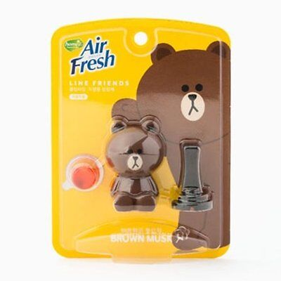 Naver Line Friends Characters Home Car Vent Clip Air Freshener Musk Scent Brown