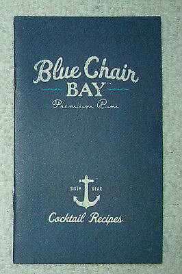 Kenny Chesney Blue Chair Bay Premium Rum Cocktail Recipes Booklet - New
