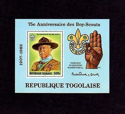 Togo - 1982 - Boy Scout - Baden-Powell - Scouting Year - Mint - Mnh S/sheet!