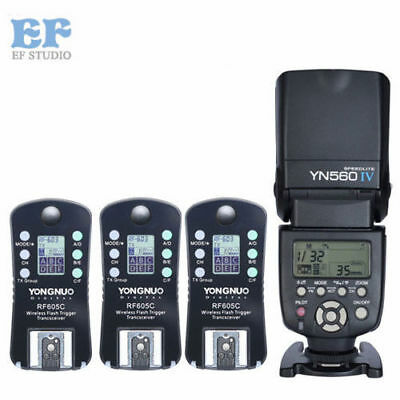 Yongnuo YN-560 IV Speedlight + Wireless Flash Trigger RF-605 for Canon 60D 5D II
