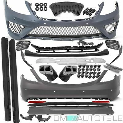 Mercedes W222 Bodykit Bumper+Exhaust Black Edition+Tail Pipes for S63 S65 AMG