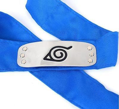 DZ777* Sale NARUTO Ninja Headband Head Band bandana Cosplay Hatake Kakashi Blue