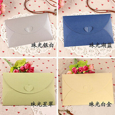 Colorful Kraft Paper Heart Buckle Envelope For Invitataion Letter Photo Postcard