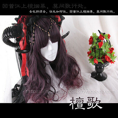 Wig Cosplay Princess Long Curly Hair Harajuku Gothic Lolita Purple Gradient