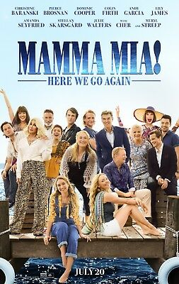 "MAMMA MIA HERE WE GO AGAIN 2018 Original DS 2 Sided 27x40"" US Movie Poster Cher"