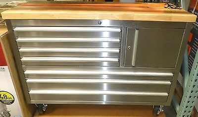 Stainless Steel On Rolling Workbench Toolbox Snap Shut Drawer-Mexico Export Yes