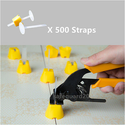500 Straps Tile Leveling System Tiling Spacers Tools Installation Clips Lippage