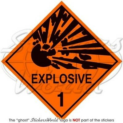 "EXPLOSIVE Explosion Danger Warning Safety Sign 100mm(4"") Vinyl Sticker-Decal"