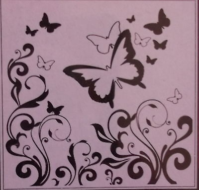 Embossing Folder - Crafts Too - Butterfly - ref 3104 First class post