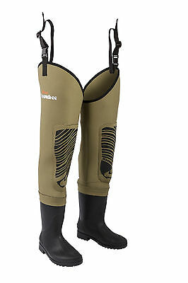 Snowbee Classic 4mm Neoprene Thigh Waders with Cleated Sole