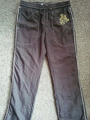 Girls C&a Jogging Pants Brown/cream Trim Age 6 Years To 15 Years Bnwot