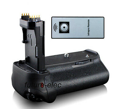 Vertical Battery Hand Grip Holder For Canon EOS 70D as BG-E14 BGE14 + IR Remote