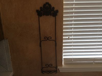 Wrought Iron Towel Holder Vintage Towel Holder Towel French Country
