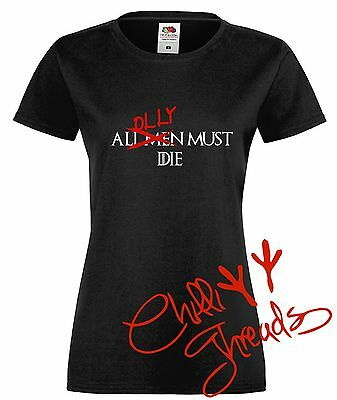 All men must die,Thrones T-shirt premium t shirt tshirt of Game