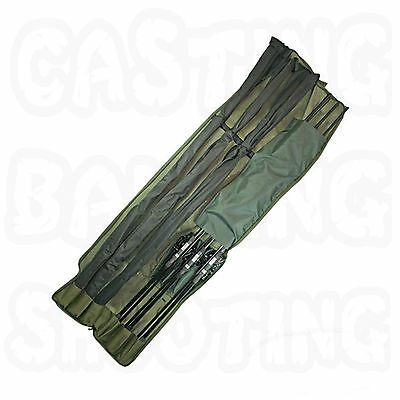 Ngt 618 3 + 3 Rod Rods Padded Holdall 2 X Pockets Carp Coarse Fishing Tackle New