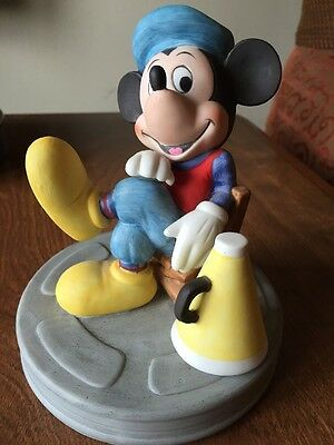 Disney Mickey Mouse Figurine Japan Director Movie Reel  Porcelain Bisque