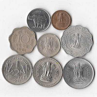 India - Lot of 8 Coins #862