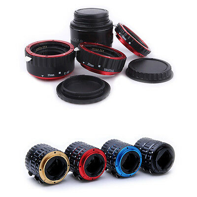 Auto Focus AF Macro Extension Tube Set Ring Adapter For Canon Camera EF EFS Lens