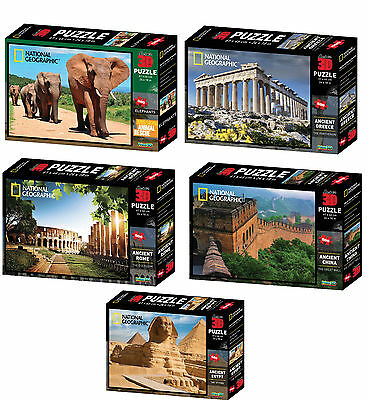 Super 3D Jigsaw Puzzles National Geographic 500 Pieces Kids Educational Toy