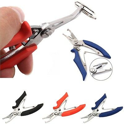 New Fishing Plier Scissor Line Braid Cutter Hook Split Ring Remover Tackle Tool