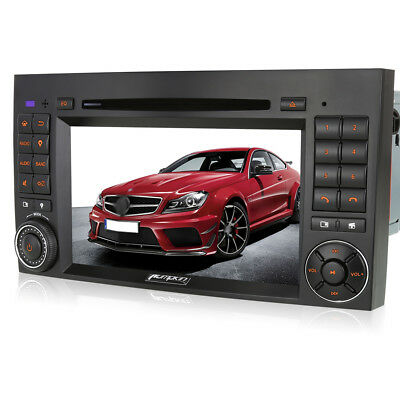 "7"" Car GPS Navigation Stereo DVD CD Player DVB-T TV 3G BT for Benz A/B Class UK"
