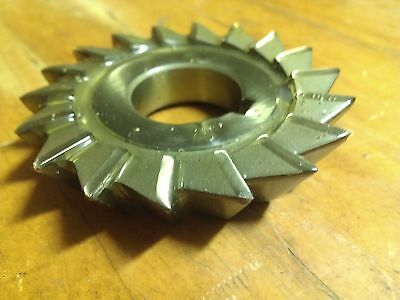 "HSS Single Angle Milling Cutter - 3"" x 5/16"" x 1 1/4"" 20T 30 degree. RH. ESC"