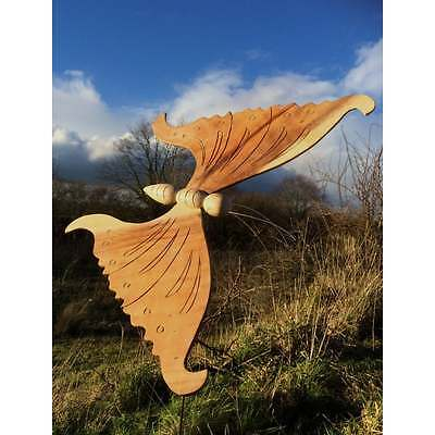 Large Fairtrade Suar Wood Butterfly on Stake - A