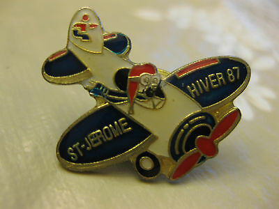 St Jerome Winter Carnaval Airplane Pin Back