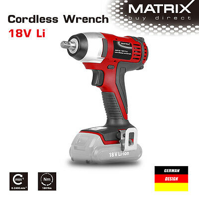 """NEW MATRIX 18v Cordless Impact Wrench 3/8"""" inch  (Skin only, no battery)"""
